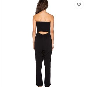 Strapless Slim Jumpsuit in Rich Black size small